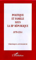 illustration Politique et famille sous la IIIe République