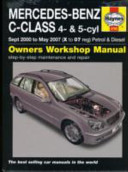 Mercedes Benz C-Class Petrol and Diesel Service and Repair Manual