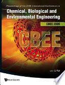 Proceedings of the 2009 International Conference on Chemical  Biological and Environmental Engineering  CBEE 2009  Singapore  9 11 October 2009