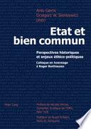 Etat Et Bien Commun : en constante confrontation du point de vue de...
