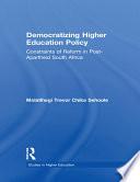 Democratizing Higher Education Policy