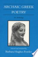 Archaic Greek Poetry