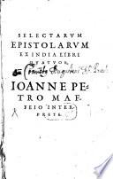Selectarum epistolarum ex India libri quatuor