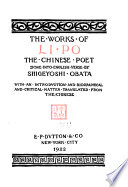 The Works of Li Po  the Chinese Poet