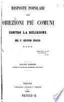 Risposte popolari alle obiezioni piu comuni contro la religione