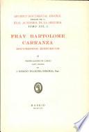 Fray Bartolome Carranza II