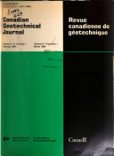 Canadian Geotechnical Journal book