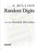 A Million Random Digits with 100 000 Normal Deviates