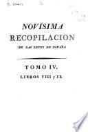 Novisima recopilaci  n de las Leyes de Espa  a  Libros VIII IX