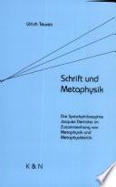 Schrift und Metaphysik
