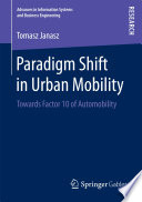 Paradigm Shift In Urban Mobility book