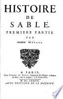 Histoire De Sable