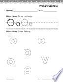Pre Kindergarten Foundational Phonics Skills  Primary Sound o