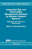 download ebook integrated risk and vulnerability management assisted by decision support systems pdf epub
