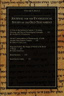 download ebook journal for the evangelical study of the old testament, 5.2 pdf epub