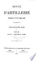 Revue D Artillerie