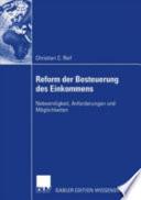 Reform der Besteuerung des Einkommens