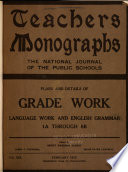 Teachers Monographs