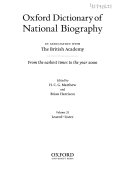 Oxford Dictionary of National Biography