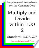 CCSS 3 OA C 7 Multiply and Divide within 100 2