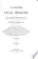 A System Of Legal Medicine