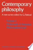 Tome 1 Philosophie du langage, Logique philosophique / Volume 1 Philosophy of language, Philosophical logic