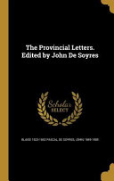 PROVINCIAL LETTERS EDITED BY J Culturally Important And Is Part Of The Knowledge