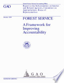 download ebook forest service a framework for improving accountability : report to the subcommittee on interior related agencies, committee on appropriations, house of representatives. pdf epub