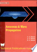 Antennas And Wave Propagation : dipoles, current distribution on a thin wire antenna....