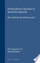 Postmoderne Literatur in deutscher Sprache