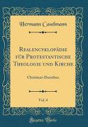 Realencyklopädie für Protestantische Theologie und Kirche, Vol. 4