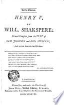 Henry V book