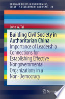Building Civil Society in Authoritarian China