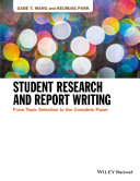 Student Research and Report Writing