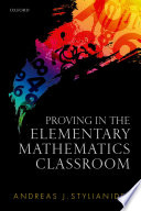 Proving in the Elementary Mathematics Classroom