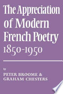 illustration The Appreciation of Modern French Poetry (1850-1950)