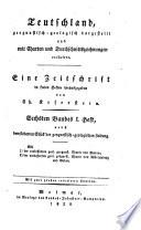 Deutschland geognostisch-geologisch dargestellt ... Eine Zeitschrift hrsg. von Ch. Keferstein