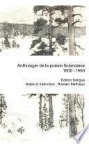Anthologie de la po�sie finlandaise 1800-1850