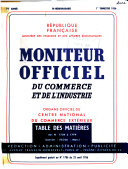 Moniteur officiel du commerce et de l'industrie