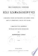 Magyarországi városok régi számadáskönyvei