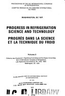 Proceedings  Comptes rendus   International Congress of Refrigeration