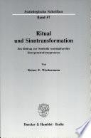 Ritual und Sinntransformation