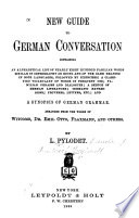 New Guide To German Conversation