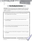 Tuck Everlasting Close Reading and Text Dependent Questions