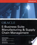 Oracle E Business Suite Manufacturing   Supply Chain Management