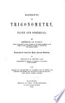 Elements of Trigonometry  Plane and Spherical