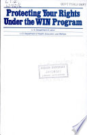 Protecting Your Rights Under the WIN Program Book PDF