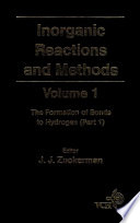 Inorganic Reactions and Methods  The Formation of Bonds to Hydrogen