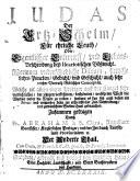Judas, Der Ertz-Schelm, Für ehrliche Leuth