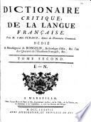 Dictionaire critique de la Langue francaise